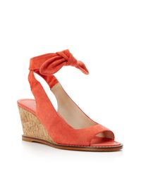 Bettye Muller | Orange Playlist Ankle Tie Wedge Sandals | Lyst