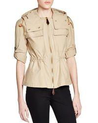 Burberry - Natural Bartleigh Hooded Safari Jacket - Lyst