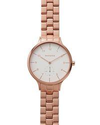 Skagen - Pink Anita Watch, 34mm - Lyst