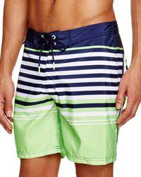 Sundek - White Horizontal Stripe Swim Trunks for Men - Lyst