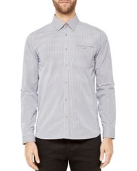 a6ce818e77f099 Lyst - Ted Baker Twosoft Micro Checked Shirt in Gray for Men