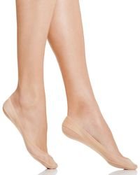 Hue | Natural Classic Silicone Edge Liner Socks | Lyst