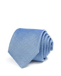 W.r.k. | Blue Textured Solid Classic Tie for Men | Lyst