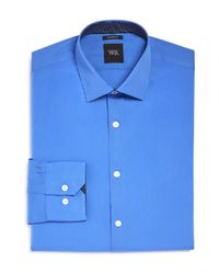 W.r.k. | Blue French Solid Stretch Slim Fit Dress Shirt for Men | Lyst