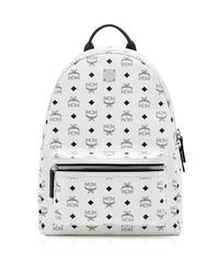 MCM | White Visetos Medium Stark Backpack for Men | Lyst