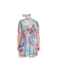Nally & Millie - Multicolor Plus Abstract Leopard Print Top - Lyst