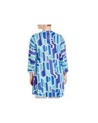 Nally & Millie - Blue Plus Geometric Print Tunic Top - Lyst