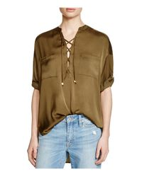 Guess | Green Lace-up Tunic | Lyst