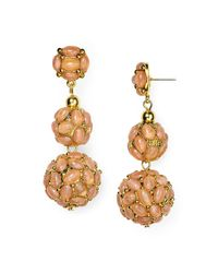 Kenneth Jay Lane | Metallic Ball Drop Earrings | Lyst