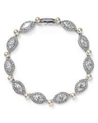 Nadri | Metallic Crystal Tennis Bracelet | Lyst