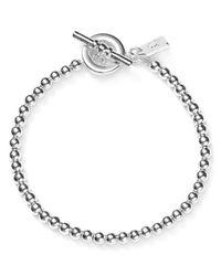 Pink Pony | Metallic Lauren Beaded Toggle Bracelet | Lyst