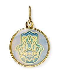 ALEX AND ANI - Blue Art Infusion Hand Of Fatima Charm - Lyst