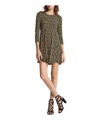 BCBGeneration - Natural Three-quarter Sleeve A-line Dress - Lyst
