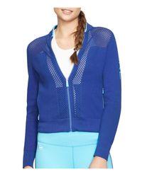 Pink Pony - Blue Lauren Active Mesh Inset Sweater - Lyst