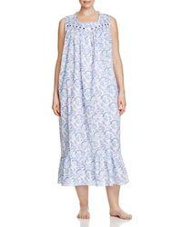 Eileen West - Blue Plus Sleeveless Ballet Nightgown - Lyst
