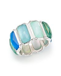 Ippolita | Multicolor Sterling Silver Wonderland Clear Quartz And Mother-of-pearl Doublet Brick Ring | Lyst