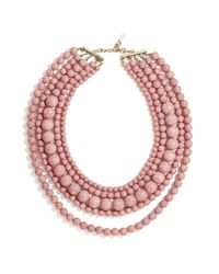 BaubleBar | Pink Globe Strands Layered Necklace, 18"