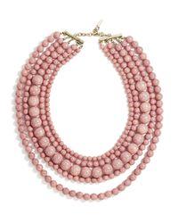 "BaubleBar | Pink Globe Strands Layered Necklace, 18"" | Lyst"