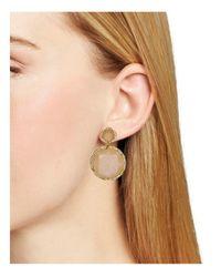 BaubleBar - Natural Rosey Drop Earrings - Lyst