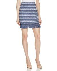 Timo Weiland - Blue Sophie Tweed Fringe Trim Skirt - Lyst