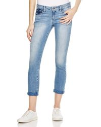 HIDDEN - Gray Skylar Cuffed Jeans In Crinkled - Lyst