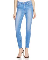 PAIGE - Blue Denim Hoxton Ankle Jeans In Benita - Lyst