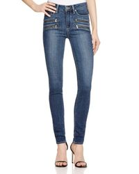 PAIGE - Blue Denim High Rise Edgemont Ultra Skinny Jeans In Silas - Lyst
