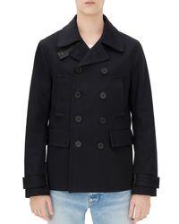 Sandro - Black Nautica Pea Coat - Lyst