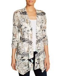 NIC+ZOE - Multicolor Nic+zoe Abstract Print Cardigan - Lyst