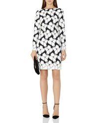 Reiss - Black Lottie Floral Applique Dress - Lyst