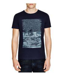 BOSS Orange - Blue Tartary Textured Surfer Graphic Tee for Men - Lyst
