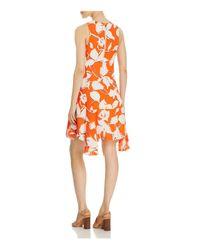 Julia Jordan - Orange Sleeveless Floral Swing Dress - Compare At $168 - Lyst