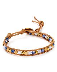 Chan Luu | Metallic Blue Lace Agate Beaded Bracelet | Lyst