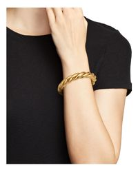 Roberto Coin - Metallic 18k Yellow Gold-plated Sterling Silver Twist Bangle Bracelet - Lyst