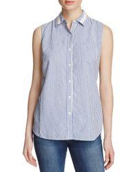Birds Of Paradis - Blue Seersucker Stripe Shirt - Lyst
