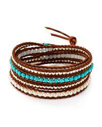 Chan Luu | Brown Turquoise Wrap Bracelet | Lyst