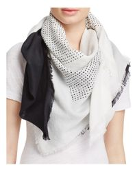 DKNY | Black Pure Ondine Cotton Scarf | Lyst