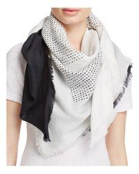 DKNY - Black Pure Ondine Cotton Scarf - Lyst