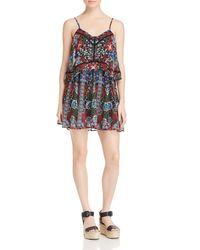 N Nicholas - Multicolor Floral Print Double Tiered Dress - Lyst