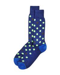 Paul Smith | Blue Neon Spot Socks for Men | Lyst