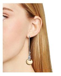 Robert Lee Morris | Metallic Two-tone Shepherd's Hook Earrings | Lyst