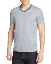 BOSS - Blue Teal Slim Fit Stripe Tee for Men - Lyst