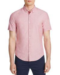 BOSS Green - Pink Woven Dobby Regular Fit Button-down Shirt for Men - Lyst