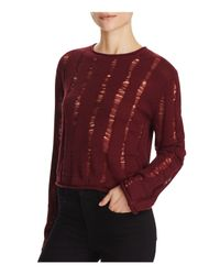 T By Alexander Wang | Red Wool Crop Sweater | Lyst
