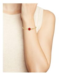 Marc Jacobs - Red Logo Disc Hinge Bracelet - Lyst