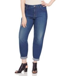 NYDJ - Blue Plus Sylvia Relaxed Boyfriend Jeans In Cleveland - Lyst