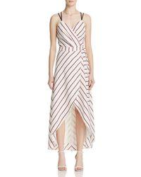 Adelyn Rae - Multicolor Striped Wrap Maxi Dress - Lyst