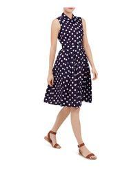 Hobbs | Blue Suzie Spot Swing Dress | Lyst