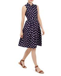 Hobbs | White Suzie Spot Swing Dress | Lyst