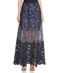 Elie Tahari - Blue Tayla Floral Lace Maxi Skirt - Lyst